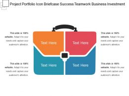 Project Portfolio Icon Briefcase Success Teamwork Business Investment