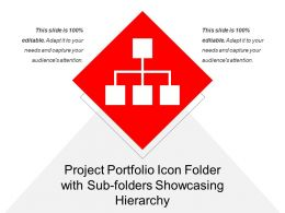 Project Portfolio Icon Folder With Sub Folders Showcasing Hierarchy