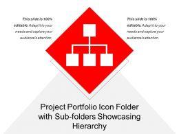 Project Portfolio Icon Folder With Sub Folders Showcasing Hierarchy