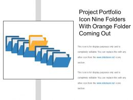 Project Portfolio Icon Nine Folders With Orange Folder Coming Out