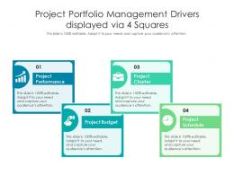 Project Portfolio Management Drivers Displayed Via 4 Squares