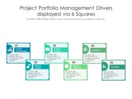 Project Portfolio Management Drivers Displayed Via 6 Squares