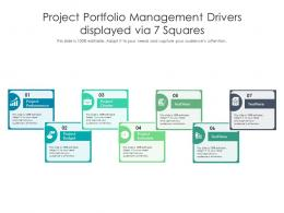 Project Portfolio Management Drivers Displayed Via 7 Squares