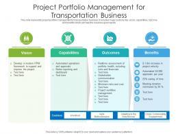 Project Portfolio Management For Transportation Business