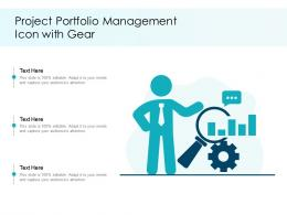 Project Portfolio Management Icon With Gear