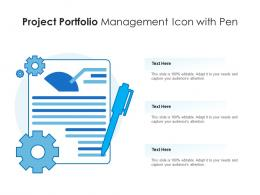 Project Portfolio Management Icon With Pen