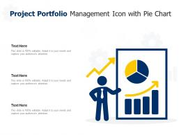 Project Portfolio Management Icon With Pie Chart