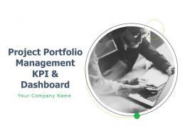 Project Portfolio Management Kpi And Dashboard Powerpoint Presentation Slides