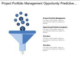 Project Portfolio Management Opportunity Predictive Analytics Deadlines Budget