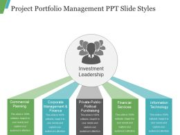 Project Portfolio Management Ppt Slide Styles