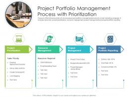 Project Portfolio Management Process With Prioritization