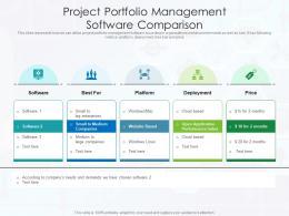Project Portfolio Management Software Comparison