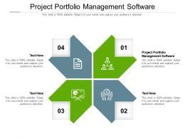Project Portfolio Management Software Ppt Powerpoint Presentation Infographics Visual Aids Cpb