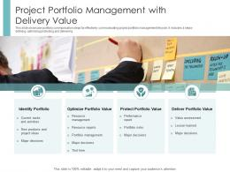 Project Portfolio Management With Delivery Value