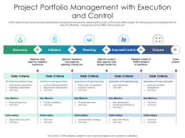 Project Portfolio Management With Execution And Control