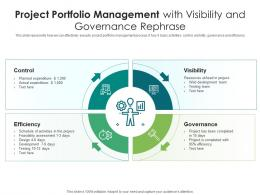 Project Portfolio Management With Visibility And Governance Rephrase