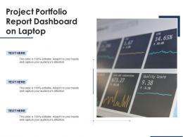 Project Portfolio Report Dashboard On Laptop
