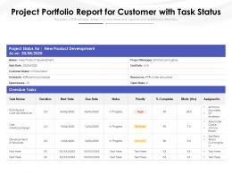 Project Portfolio Report For Customer With Task Status