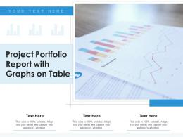 Project Portfolio Report With Graphs On Table
