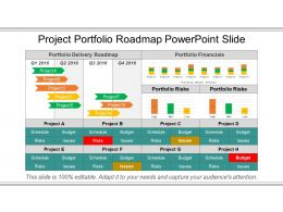 Project Portfolio Roadmap Powerpoint Slide