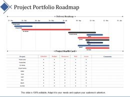 Project Portfolio Roadmap Ppt Summary Infographic Template