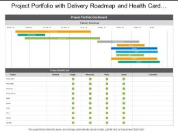 Project Portfolio With Delivery Roadmap And Health Card Dashboards