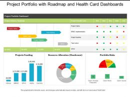Project Portfolio With Roadmap And Health Card Dashboards