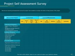 Project Priority Assessment Model Project Self Assessment Survey Ppt Powerpoint Professional