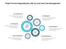Project Process Dependencies With Account And Case Management