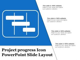 Project Progress Icon Powerpoint Slide Layout