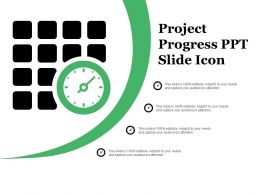 Project Progress Ppt Slide Icon