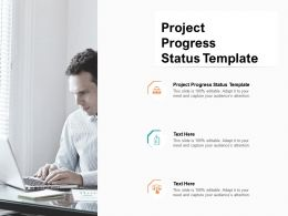 Project Progress Status Template Ppt Powerpoint Presentation Portfolio Files Cpb
