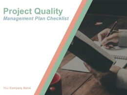 Project Quality Management Plan Checklist Powerpoint Presentation Slides