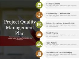 Project Quality Management Plan Powerpoint Templates