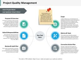 Project Quality Management Ppt Inspiration Visual Aids