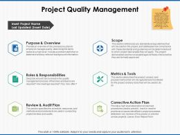 Project Quality Management Roles And Responsibilities Ppt Powerpoint Slides