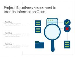 Project Readiness Assessment To Identify Information Gaps
