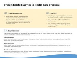 Project Related Service In Health Care Proposal Ppt Powerpoint Presentation File Topics