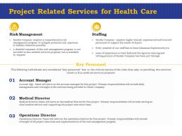 Project Related Services For Health Care Ppt Powerpoint Presentation Styles Display