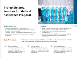 Project Related Services For Medical Assistance Proposal Ppt Powerpoint Presentation Layouts Portrait
