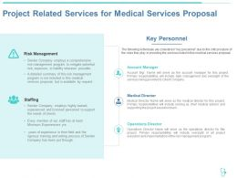 Project Related Services For Medical Services Proposal Ppt Powerpoint Presentation Show