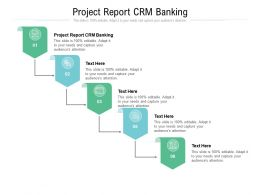 Project Report CRM Banking Ppt Powerpoint Presentation Ideas Graphics Tutorials Cpb