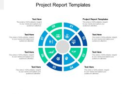 Project Report Templates Ppt Powerpoint Presentation Infographic Template Slide Download Cpb
