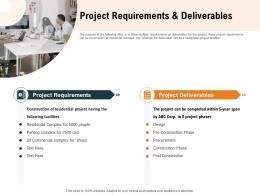 Project Requirements And Deliverables Ppt Powerpoint Presentation Infographic Template Microsoft