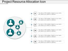 Project Resource Allocation Icon Ppt Ideas