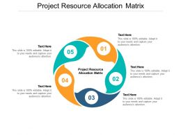 Project Resource Allocation Matrix Ppt Powerpoint Presentation Slides Infographics Cpb