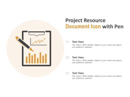 Project Resource Document Icon With Pen