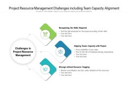 Project Resource Management Challenges Including Team Capacity Alignment