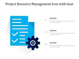 Project Resource Management Icon With Gear