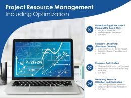 Project Resource Management Including Optimization